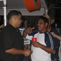 Attorney Juan LaFonta talking to a client
