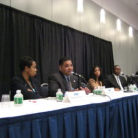 Attorney Juan LaFonta speaking at a conference