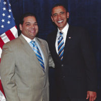 New Orleans Attorney Juan LaFonta with President Barack Obama
